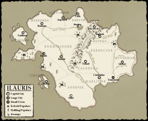 The world map for Ilauris by Miladoon