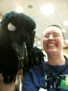 """""""Can I get a pic with you?"""" """"Yes, then nevermore."""""""